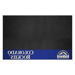 Fanmats 12152 MLB Colorado Rockies Vinyl Grill Mat