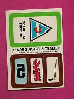 1979-80 TOPPS COLORADO ROCKIES HELMET AND STICK DECALS INSER