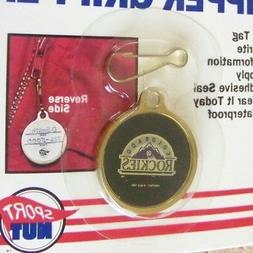 1991 Colorado Rockies old logo Zipper Gripper MLB clip on ID