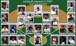 1993 COLORADO ROCKIES Opening Day Team POSTER Art Man Cave D