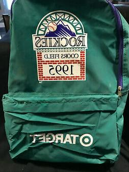 1995 Vintage Colorado Rockies Coors Field Back pack Inaugura