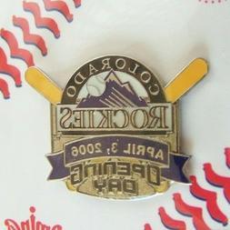 2006 Colorado Rockies Opening Day x-bats lapel pin MLB light