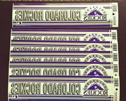 6 Vintage COLORADO ROCKIES BASEBALL BUMPER STICKER LOT WinCr