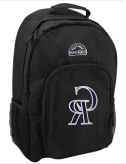 Colorado Rockies Black School Bag Backpack By Major League N