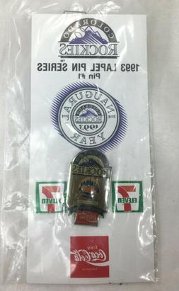 Baseball 1993 Souvenir Lapel Hat Pin #1 Colorado-Rockies Ser