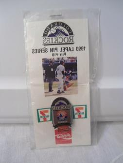 Baseball 1993 Souvenir Lapel Hat Pin #10 Colorado-Rockies Se