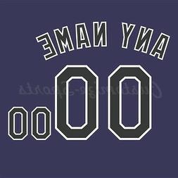 Baseball Colorado Rockies Purple Jersey Customized Number Ki