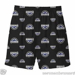 Boys' Licensed MLB Colorado Rockies Sleepwear Shorts ~ Size