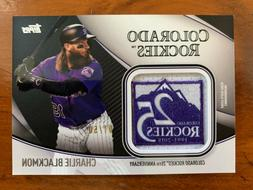 CHARLIE BLACKMON 2020 Topps Series 2 JERSEY SLEEVE PATCH REL