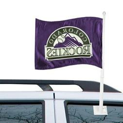 "Colorado Rockies 12"" x 15"" Purple Car Flag"