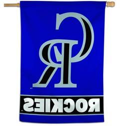 "COLORADO ROCKIES 28""X40"" HOUSE FLAG OR WALL BANNER MLB LICEN"
