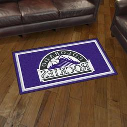 Colorado Rockies 3' X 5' Decorative Ultra Plush Carpet Area