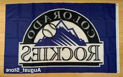 Colorado Rockies 3x5 ft Flag MLB