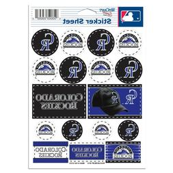 "COLORADO ROCKIES 5""x7"" LOGO STICKER SHEET BRAND NEW WINCRAFT"
