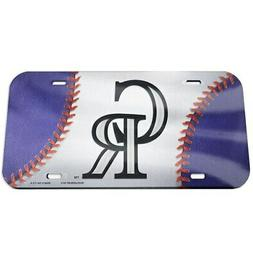 colorado rockies ball crystal mirror license plate