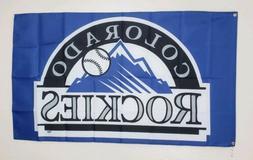 Colorado Rockies Banner 3x5 Ft Flag Man Cave Decor Gift MLB