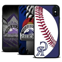 Colorado Rockies Baseball Silicone Cover Case for iPhone 7 8