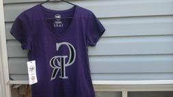 Colorado Rockies Baseball Womens 47BRAND V-Neck Shirt