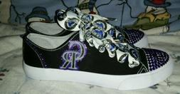 Colorado Rockies Bling Women's Mossimo Canvas Shoes size 6