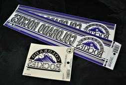 Colorado Rockies Bumper Stickers, Window Cling, Sports, Base