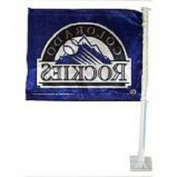 COLORADO ROCKIES CAR FLAG SRP $15.99 SAVE! SPRING TRAINING O