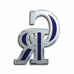 Colorado Rockies CE3 Die Cut Color Chrome Raised Metal Auto