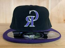 NEW ERA COLORADO ROCKIES  CLASSIC FITTED HAT CAP 59FIFTY PUR