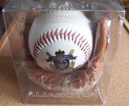 Colorado Rockies Club Crest design white baseball ball with