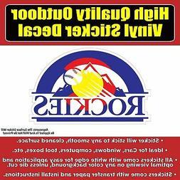 Colorado Rockies CO Flag Baseball Vinyl Car Window Laptop Bu