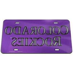 colorado rockies crystal mirror license plate