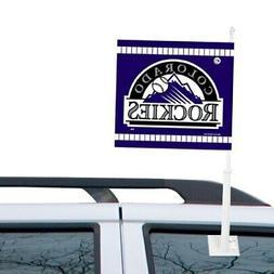 WinCraft Colorado Rockies Double-Sided Car Flag - Purple