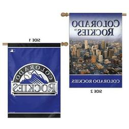 """Colorado Rockies Flag 28"""" x 40"""" Double Sided Banner"""