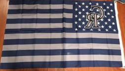 Colorado Rockies Flag 3x5 Feet Banner Stars and Stripes Man