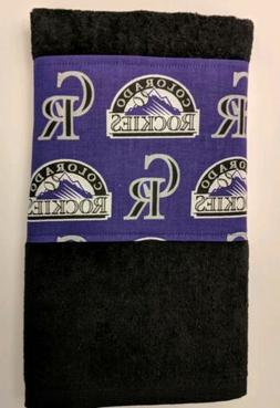 """COLORADO ROCKIES GOLF TOWEL 11"""" X 18"""""""
