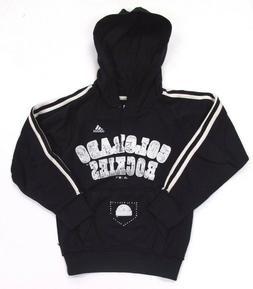 Colorado Rockies Hoodie Sweatshirt Pullover adidas Girls Bla