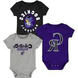 Colorado Rockies Infant Everyday Fan Three-Pack Bodysuit Set