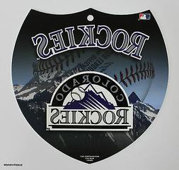 Colorado Rockies Interstate Sign Licensed MLB Plastic Wall D
