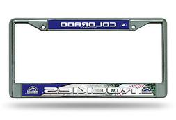 Colorado Rockies LBL Metal Chrome License Plate Tag Frame Co