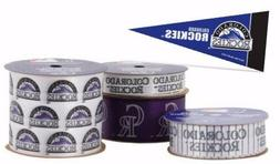 colorado rockies licensed mlb ribbons and mini
