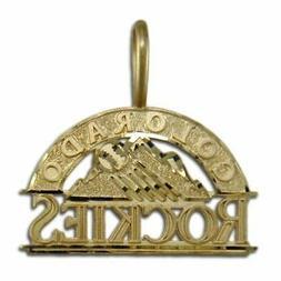 Colorado Rockies logo 14 kt Gold Medium Pendant