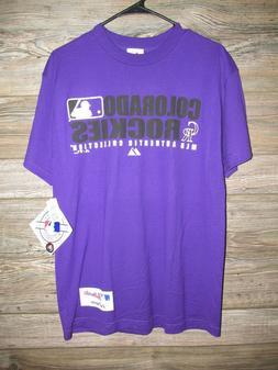 Colorado Rockies Men's Purple Short Sleeve T-Shirt Majestic