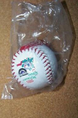 colorado rockies mini baseball ornament happy holidays