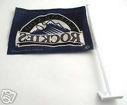 Colorado Rockies MLB Baseball 2 Sided Car Flag