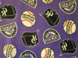 COLORADO ROCKIES MLB BASEBALL FLEECE FABRIC