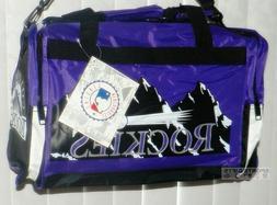 Colorado Rockies MLB Baseball Team Duffel Gym School Bag Bac