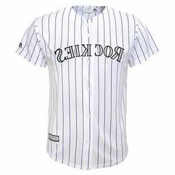Colorado Rockies MLB Majestic Boys White Official Home Cool