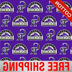 "Colorado Rockies MLB Cotton Fabric - 58"" Wide - Style# 6639"