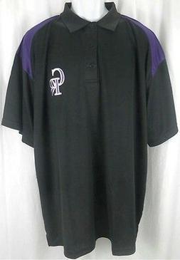 Colorado Rockies MLB Majestic Dri Fit Shoulder Polo Shirt Bl