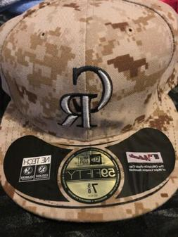 Colorado Rockies MLB New Era Fitted SZ 7 5/8 Hat Cap Militar
