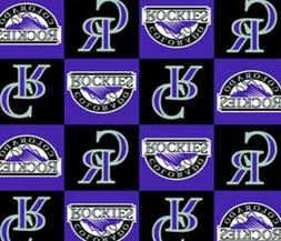 """Colorado Rockies MLB Fleece Fabric - 60"""" Wide - Style# 6590"""